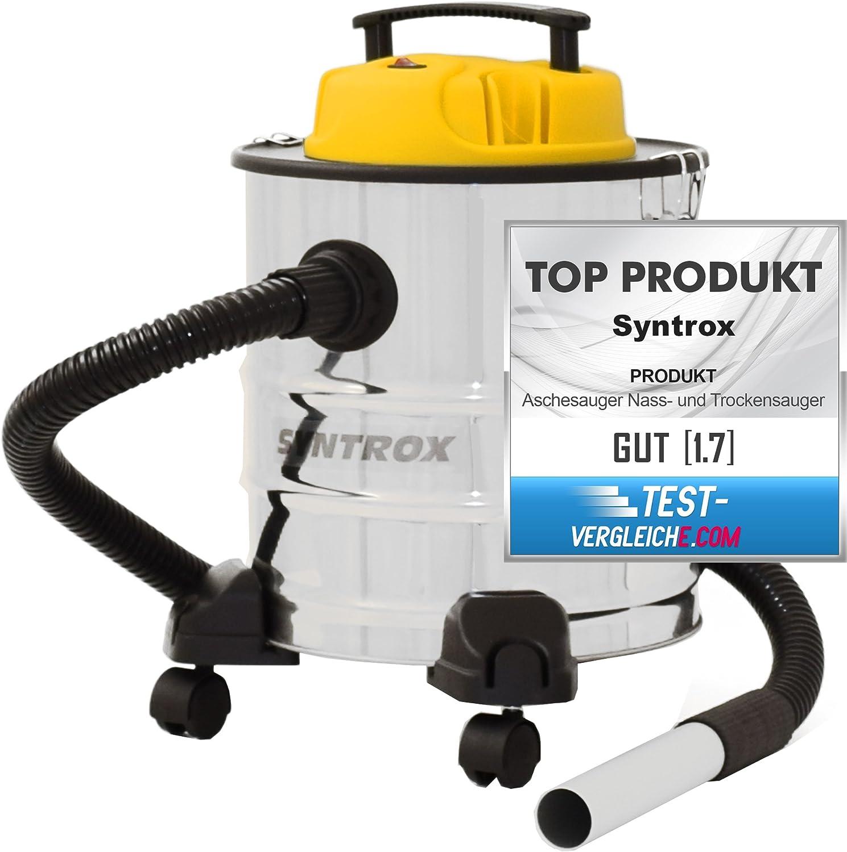 Syntrox Germany – Aspirador de cenizas 2 en 1 húmedo y seco aspiradora, 20 litros, de acero inoxidable, con motor, uso industrial: Amazon.es: Bricolaje y herramientas