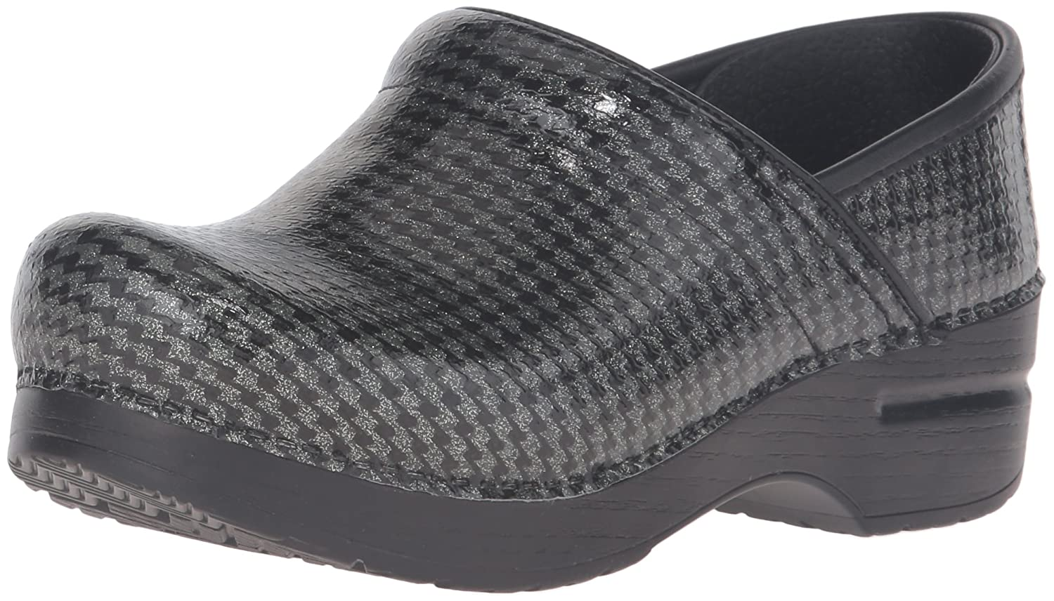 Dansko Professional Metallic Suede Black 40 EU/9.5-10 M US|Negro (black Houndstooth)