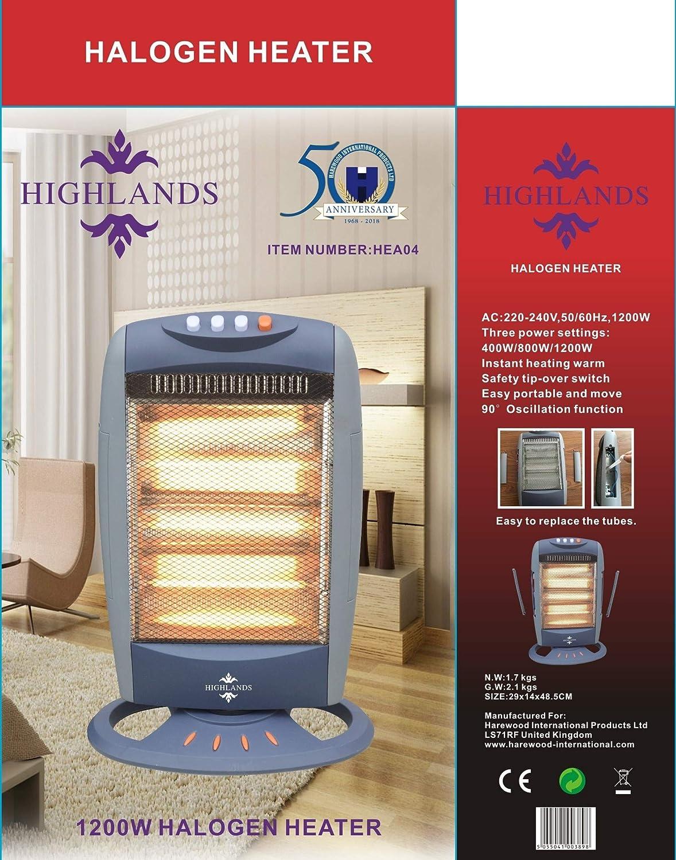 Halogen Heater Oscillating Fast Heating