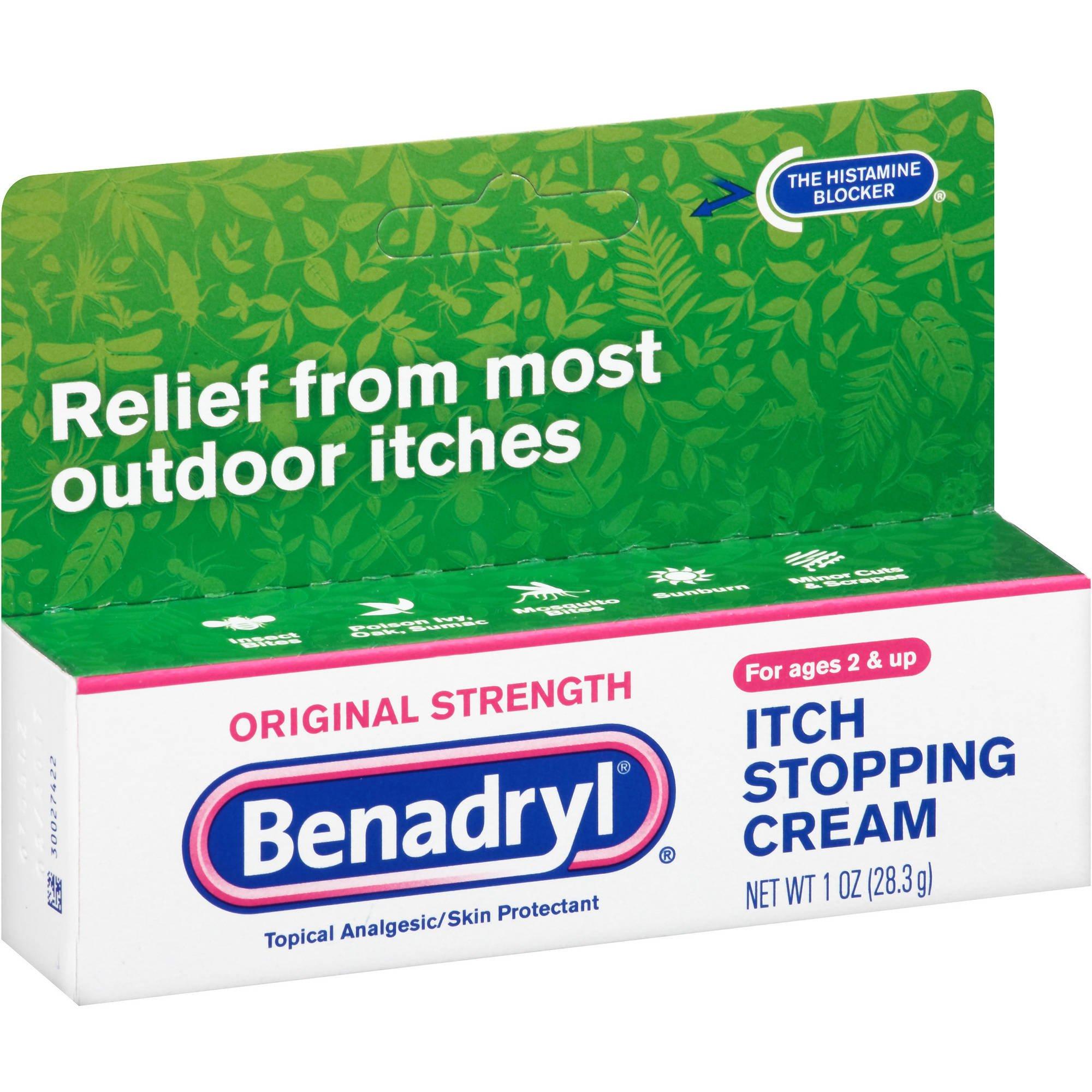 Benadryl Original Itch Stop Cream, 1 OZ (Pack of 6) by Benadryl