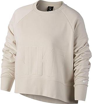 b23221d9eff Nike Women's Plus Size Versa Dri-FIT Crew Pullover,(Desert Sand/White