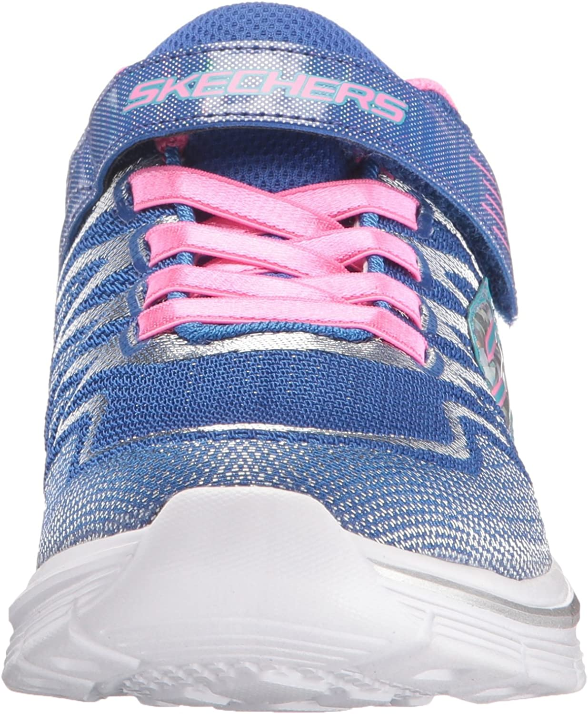 Skechers Kids Girls' Dream N'dash Whimsy Sneaker, BluePink