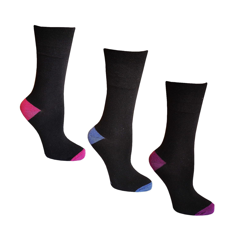 EU 37-42 women Ladies Gentle Grip Diabetic Comfort Everyday Socks UK 4-8