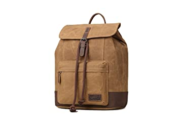 Image Unavailable. Image not available for. Color  Troop London Heritage  Canvas Leather Backpack ... 46770bfcbae14