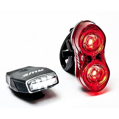 AWE® MicroFlash™ Vélo rechargeables Silicone 4 LED d'arrière Front & 2 x 0.5W LED USB 2.0 70 Lumens Sets d'éclairage avant et arrière