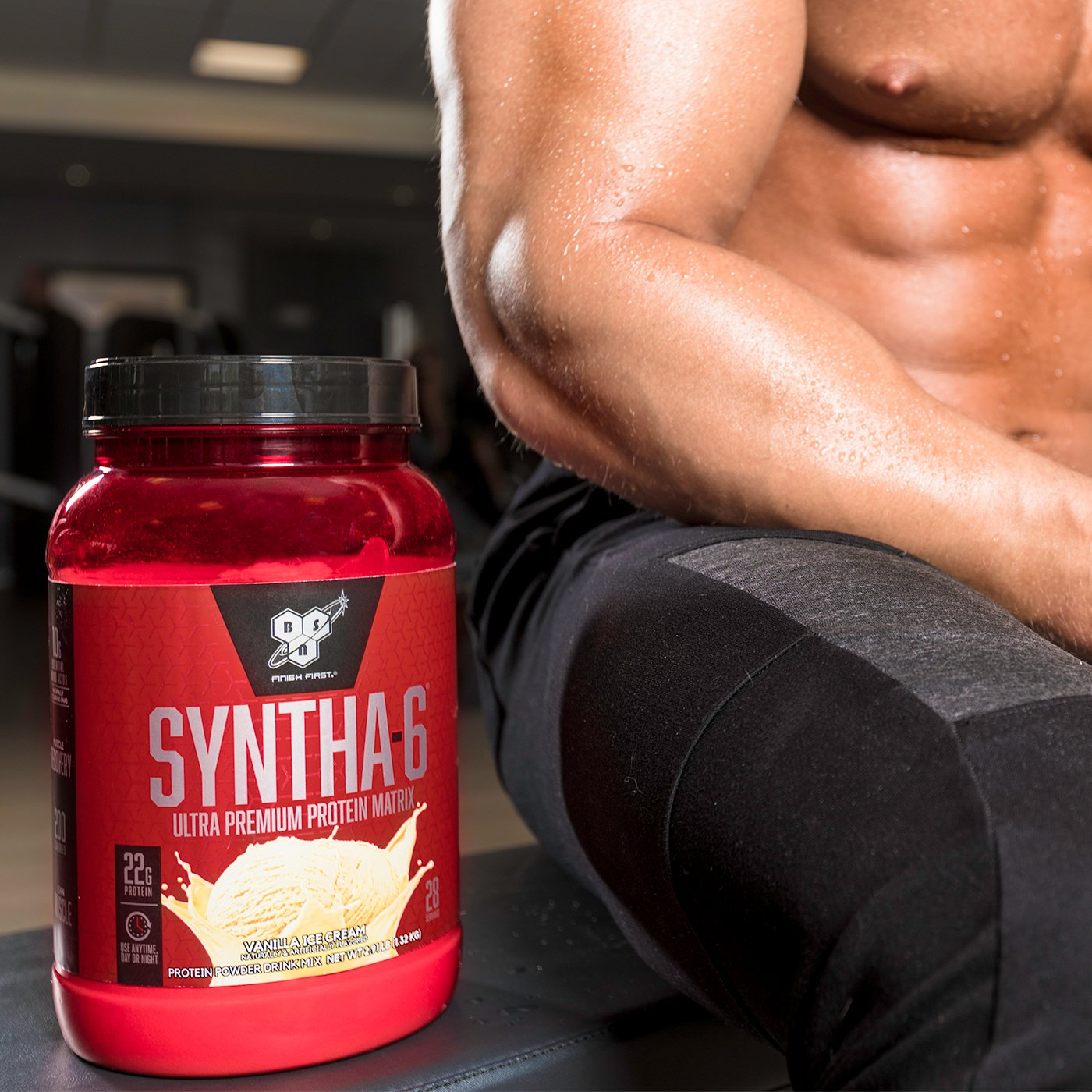 BSN SYNTHA-6 Whey Protein Powder, Micellar Casein, Milk Protein Isolate Powder, Chocolate Milkshake, 97 Servings (Package May Vary) by BSN (Image #8)