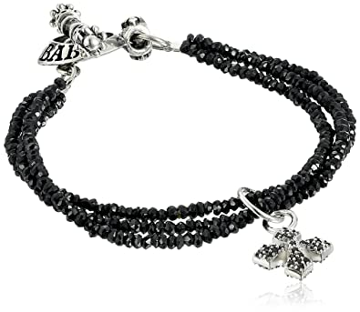 b354a342684b5 Amazon.com: King Baby Three-Strand Black Spinel Bracelet with Pave ...