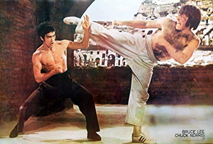 Bruce Lee VS Chuck Norris Kung Fu Master of Martial Arts Wall Decoration  Poster Size 31