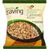 Healthy Craving Organic Cashews, 3lbs I Dry Roasted, Salted, Whole, Vegan Snacks, Vegetarian-Friendly, Kosher, Gluten…