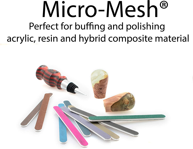 "Micro-Mesh Sanding Sticks 5-3//4/"" x 1//2/"" set of 9 Made in USA"