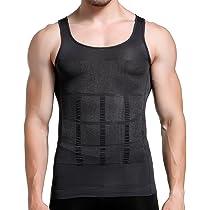 01ddd1fe40eb85 ... GKVK Mens Slimming Body Shaper Vest Shirt Abs Abdomen Slim