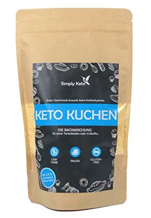 Simply Keto Kuchen Backmischung 420g Low Carb Paleo Keto