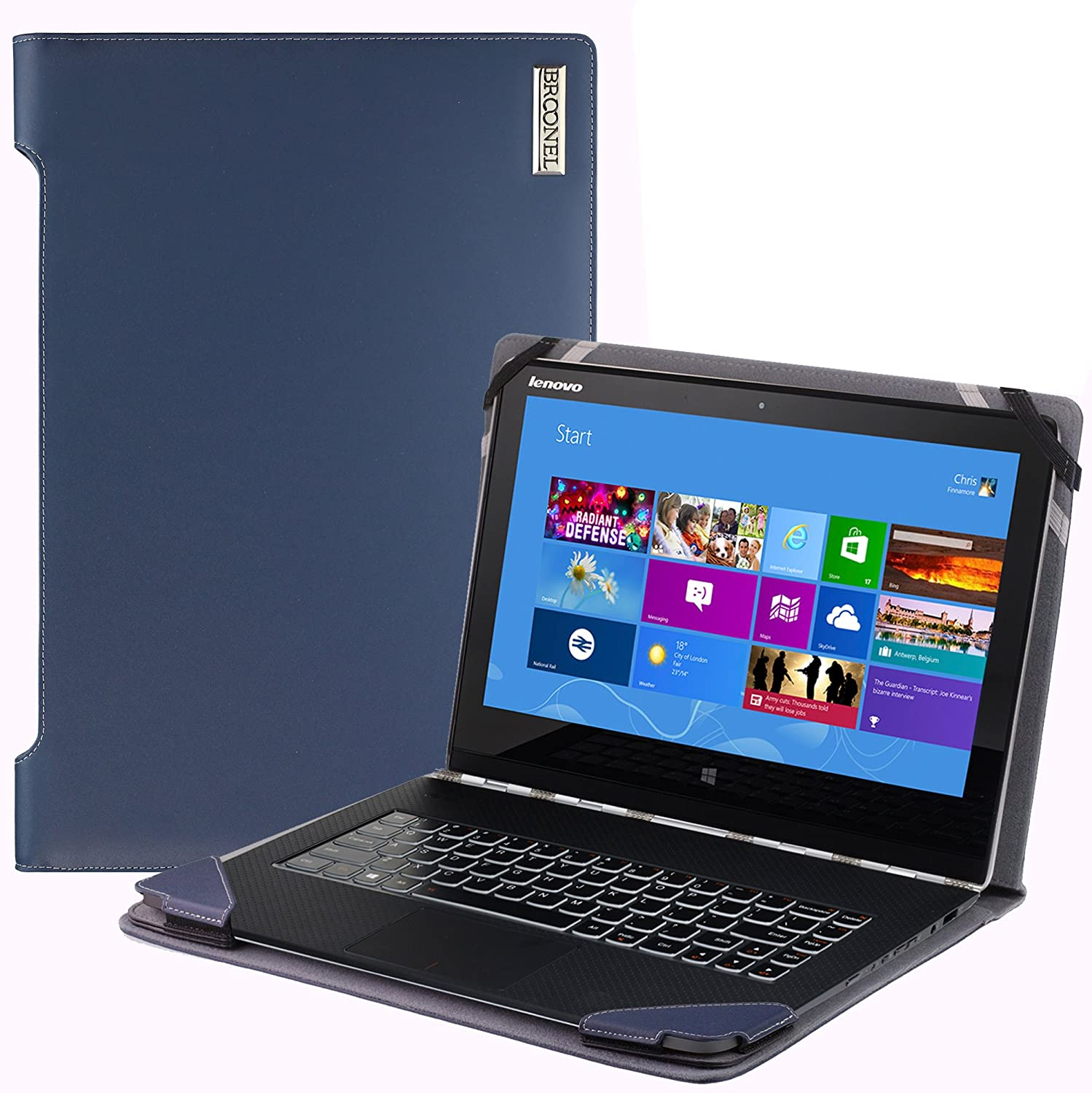 Navitech - Funda de Piel para Notebooks, Blue Leather ...