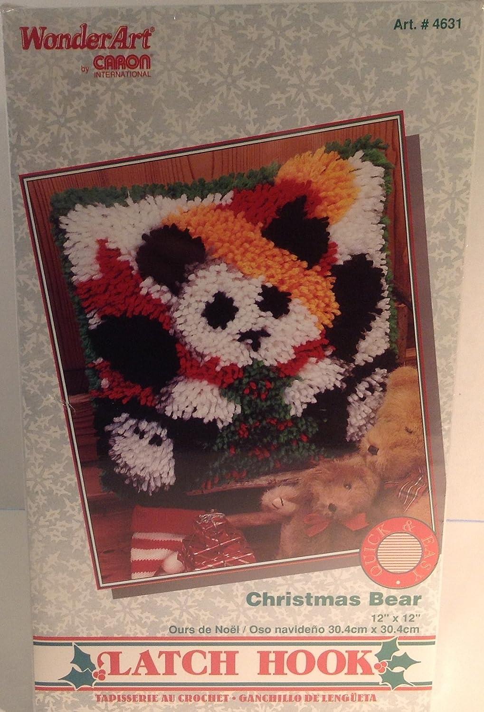 WonderArt Quick & Easy Latch Hook Kit Christmas Bear Caron International 4631