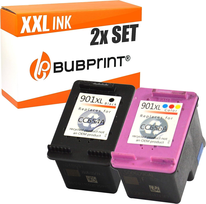 2 Bubprint Druckerpatronen Kompatibel Für Hp 901 Xl Für Officejet 4500 Wireless J4500 J4524 J4535 J4540 J4545 J4550 J4580 J4600 J4585 J4624 J4660 J4680 J4680c Schwarz Und Dreifarbig Bürobedarf Schreibwaren