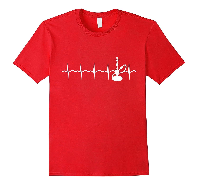 Hookah Shisha Argileh Heart Beat Novelty T-Shirt