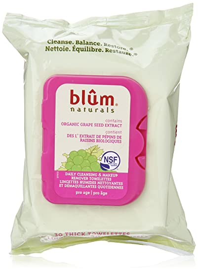 Blum Naturals, Daily Cleansing & Makeup Remover Towelettes, Pro-Age, 30 Thick Towelettes(pack of 4) Teint Divin Mineral Tinted Moisturizer - Light to Medium Skin - 30ml/1oz
