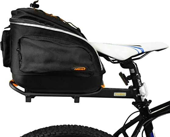 Ibera PakRak Mini de liberación rápida Bicicleta alforja para ...