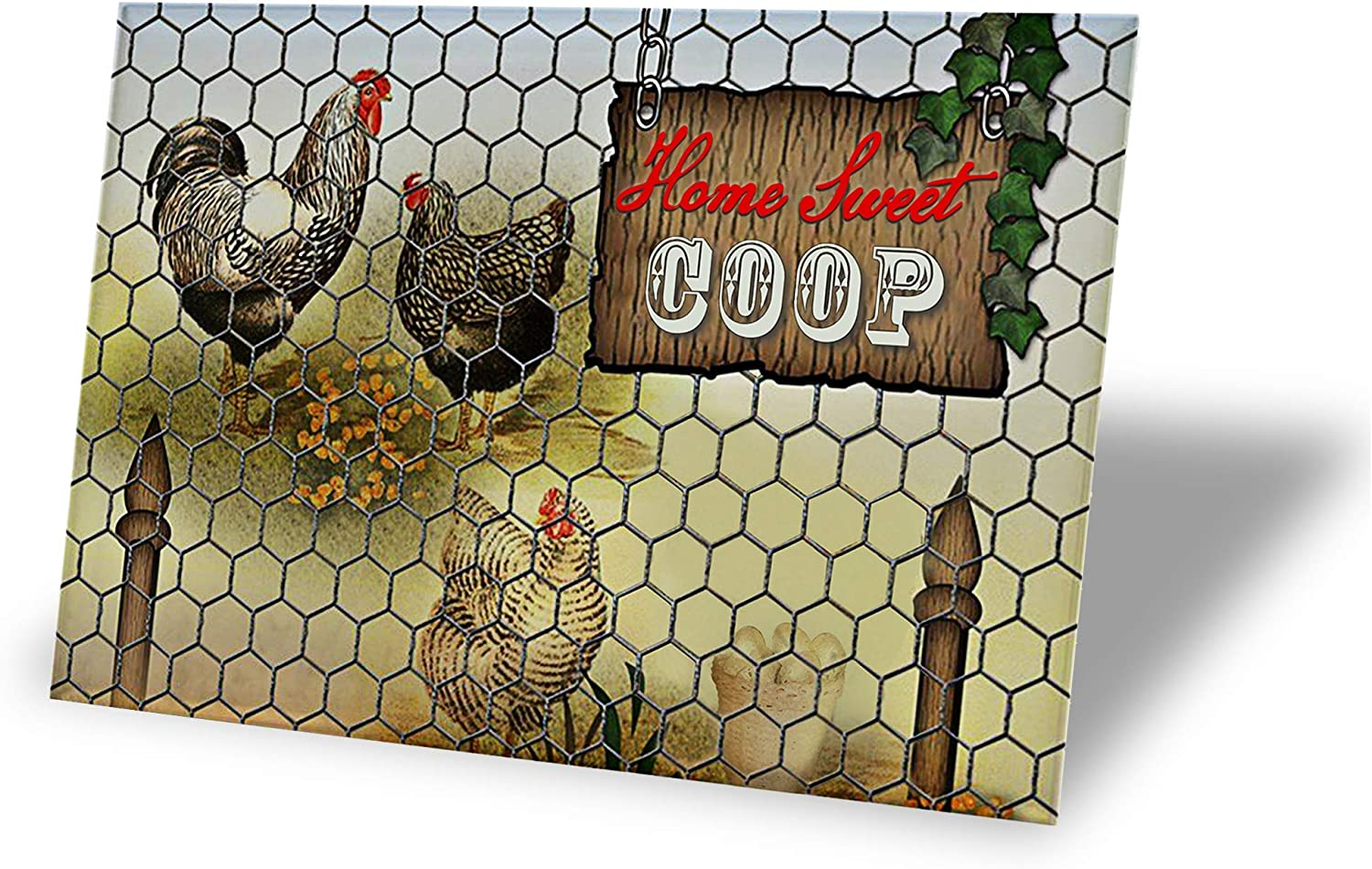TINSIGNS Home Sweet Coop Tin Signs Retro Vintage Decor Metal Bar Coop Kitchen Sign 12x8Inch