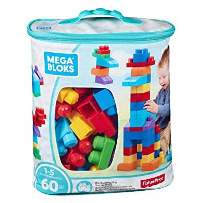 Mega Bloks Big Building Bag, 60-Piece (Classic): Toys & Games