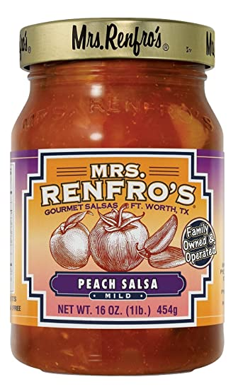 Mrs. Renfros Salsa Peach Gourmet 16.0 OZ(Pack of ...
