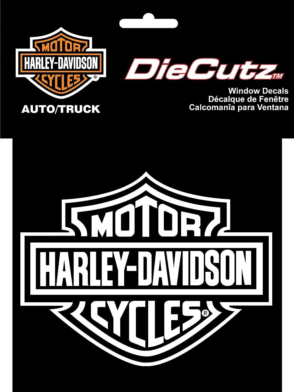 Amazon com chroma graphics harley davidson die cutz white decal harley davidson automotive