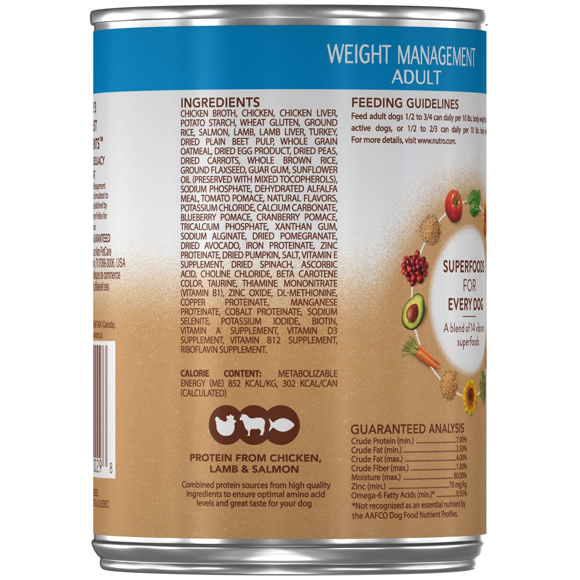 Nutro ULTRA Adult Weight Management Chunks in Gravy Canned Dog Food 12.5 oz. Cans (Pack of 12) by Nutro (Image #3)