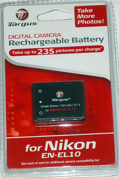 Amazon.com : Targus Digital Replacement Battery for Nikon ENEL10