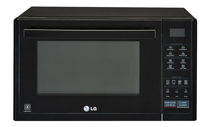 LG Electronics Horno microondas convección solar series, 1250 W, 32 litros, Negro
