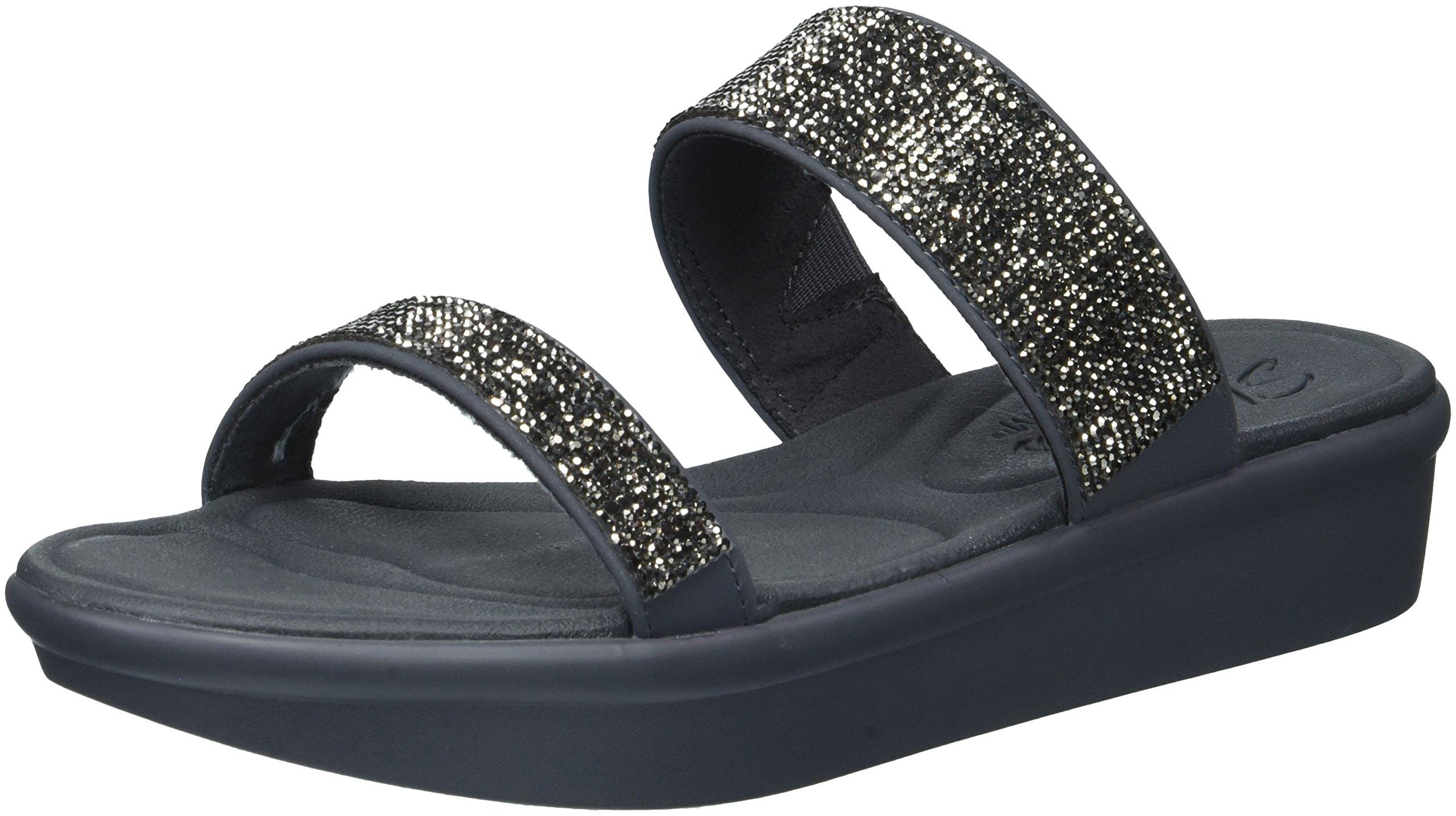 Skechers Cali Women's Bumblers-Bright Start Slide Sandal,Charcoal,8 M US