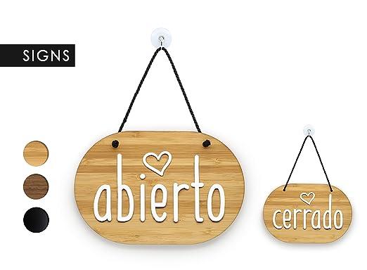 3DP Signs | óvalo corazón - Abierto/Cerrado - Cartel Doble ...