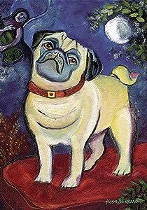 Toland Home Garden Chagrowl Pug 12.5 x 18 Inch Decorative Puppy Dog Portrait Garden Flag