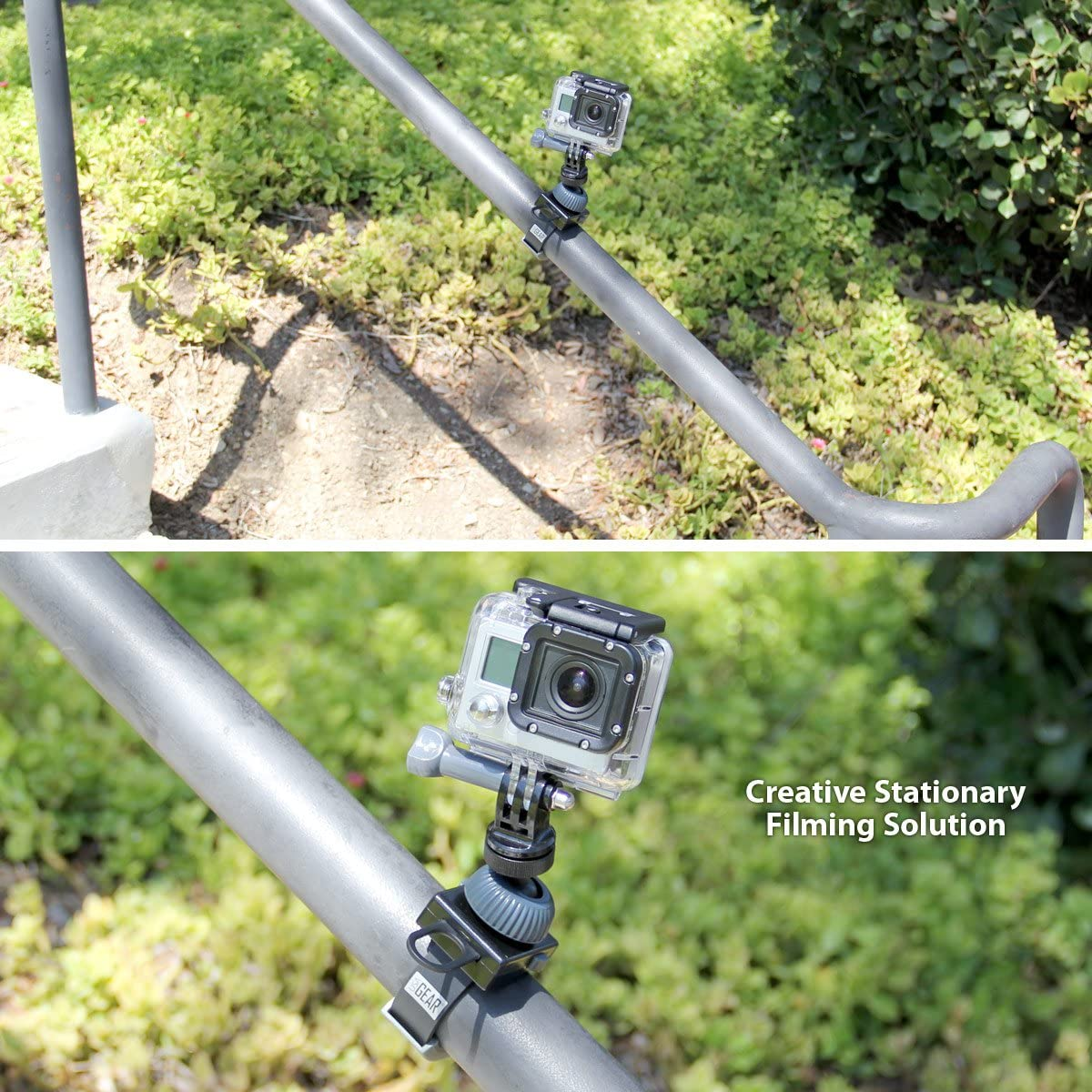 Articulating Ball Head /& Quick-Release Plate /& Garmin VIRB Ultra 30 with Bendable Wrapping Legs Compatible with GoPro HERO 6 Black USA Gear Flexible Tripod for Action Camera