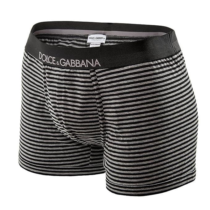 Regular Boxershort estiramiento del algodón de Dolce & Gabbana Hombre - Negro / Gris: :