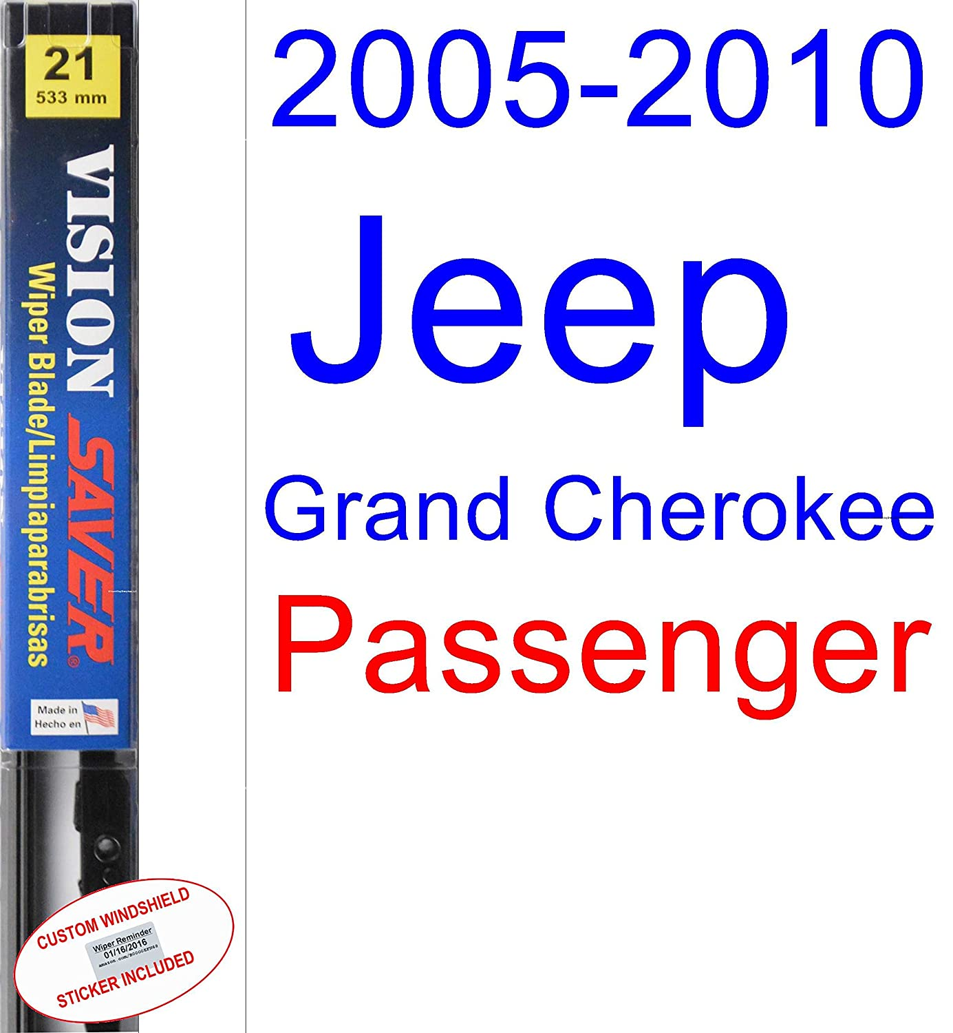 Amazon.com: 2005-2010 Jeep Grand Cherokee Wiper Blade (Driver) (Saver Automotive Products-Vision Saver) (2006,2007,2008,2009): Automotive