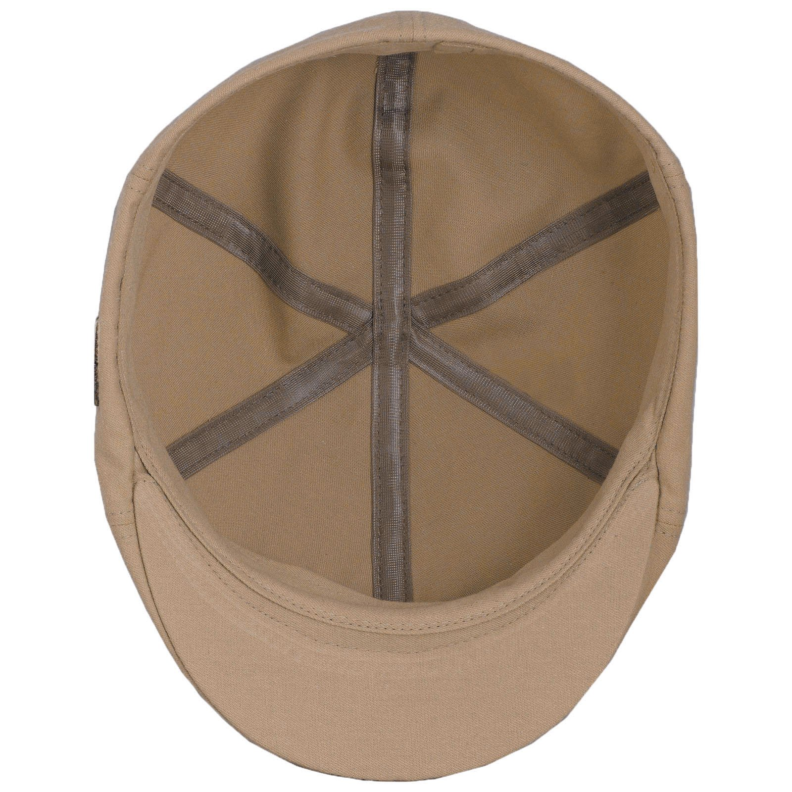 Sterkowski Light Breathable Emerizing Cotton 6 Panel Duckbill Flat Cap, Beige - 58cm = L = US 7 1/4 by Sterkowski (Image #4)