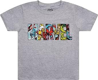Marvel Logo Characters Camiseta para Niños