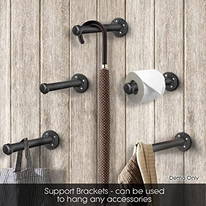 Amazon Com Diwhy Industrial Pipe Shelf Brackets For Your Diy Wall