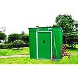 Box Casetta da giardino porta attrezzi 194x121xH181CM in lamiera zincata attrezzi giardino