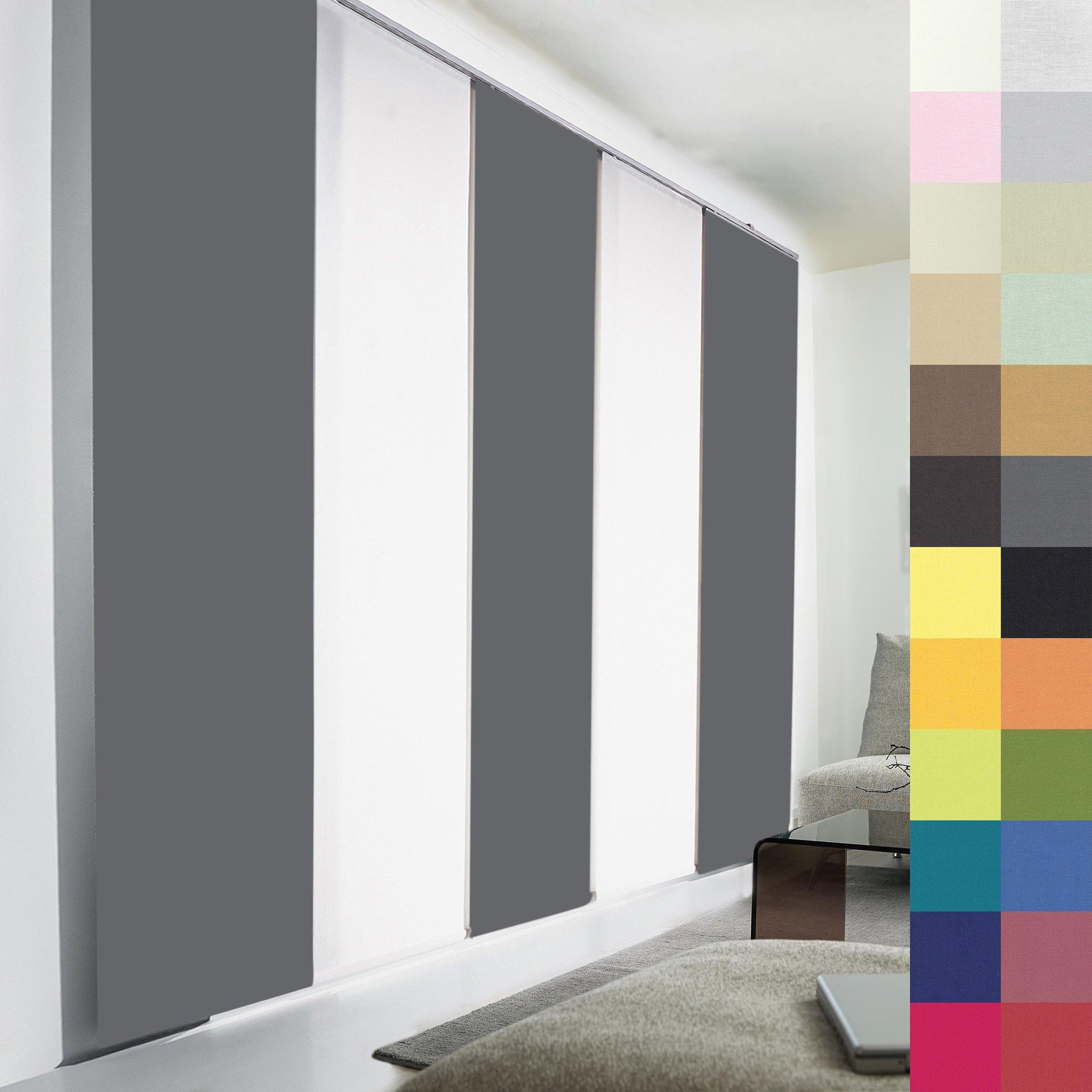 Schiebegardinen Nach Maß, Hochqualitative Wertarbeit, Alle Größen Und Mehr  Als 20 Farben Verfügbar,