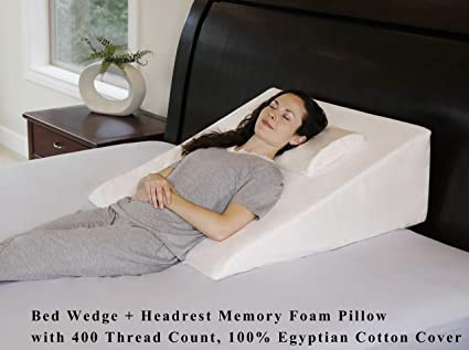 """Luxury Free Shipping 12"""" Foam Bed Wedge Pillow w//Cover"""