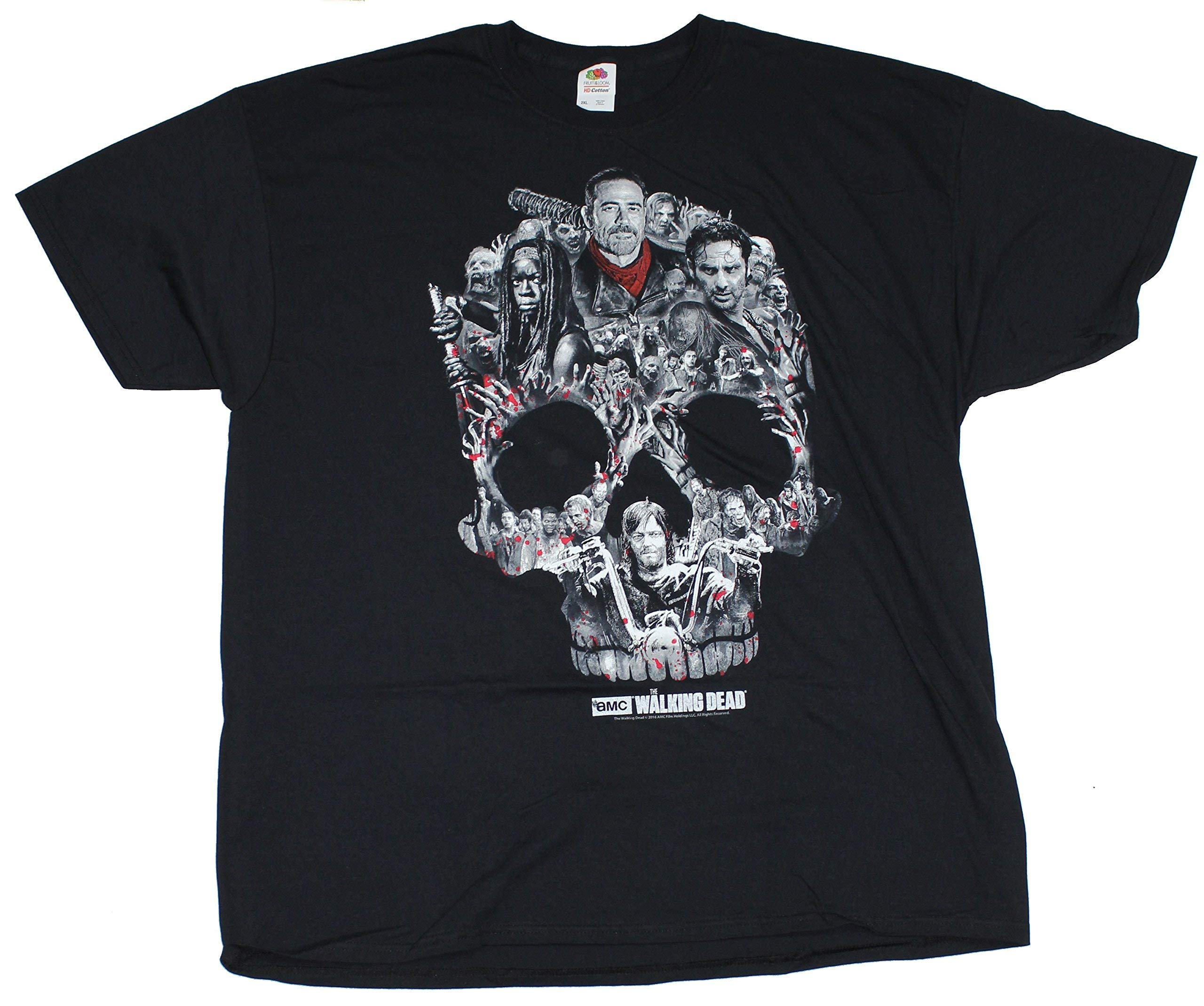 Walking Dead The Skull Montage Tshirt