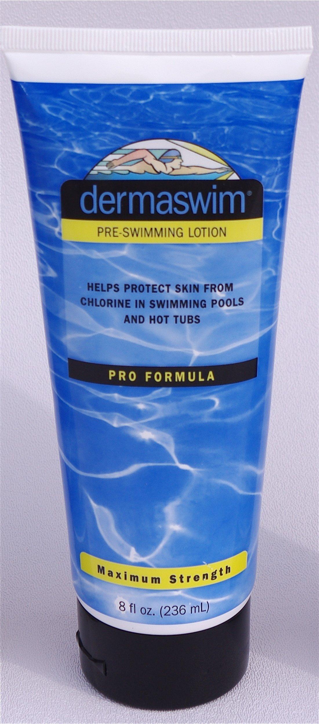 DermaSwim Pro 8 Ounce Tube Pre-Swimming Lotion