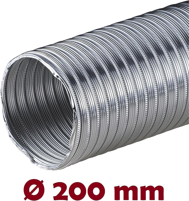 Tubo de aluminio Flex 2,60 m Flex Tubo Di/ámetro 90 Mm 90 mm aluminio Tubo Flex Manguera Manguera Flex Tubo de aluminio flexible aluminio Tubo Alu Flex resistente al calor AF