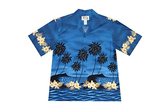 8a7893a6 KYS Hawaii Palm Tree Aloha Shirt at Amazon Men's Clothing store: