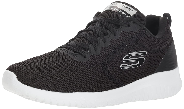 Skechers Ultra Flex-Free Spirits, Zapatillas para Mujer 39 EU|Negro (Black/White Bkw)