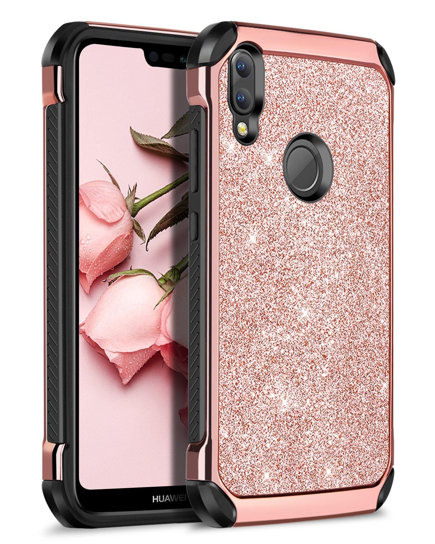 BENTOBEN Huawei P20 Lite Funda, Carcasa Huawei P20 Lite Ultra Delgado Case Cover PC + TPU Silicona Combinadas Híbrida Anti-Arañazos Anti-Golpes ...