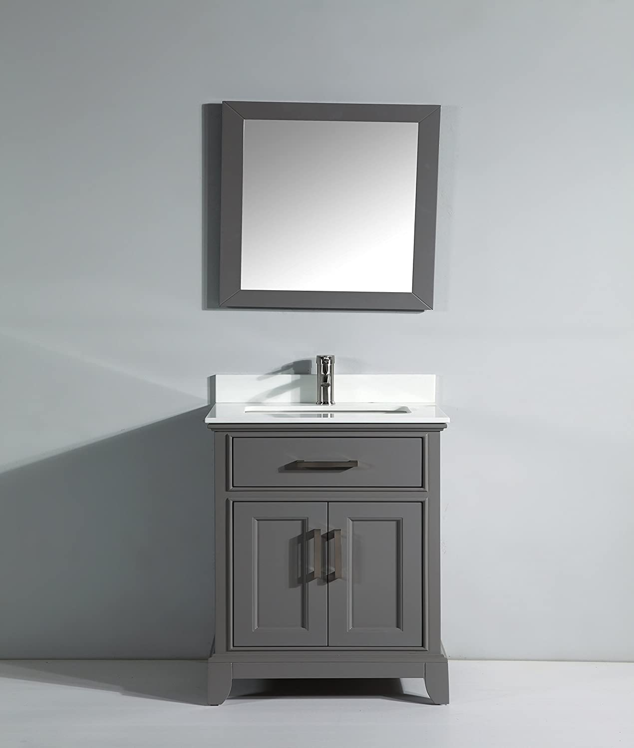 Exceptionnel Amazon.com: Vanity Art 30u201d Single Sink Bathroom Vanity Set Super White  Phoenix Stone Free Mirror VA1030 G: Home U0026 Kitchen