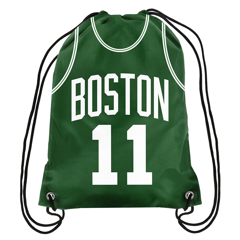 083ebb49ee62 Boston Celtics Kyrie Irving #11 Official Drawstring Gym Backpack