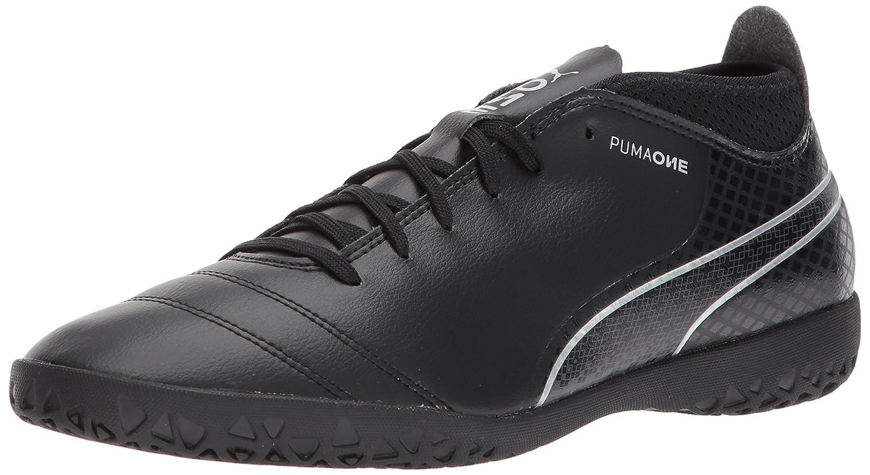 PUMA Men's One 17.4 IT Soccer Schuhe, schwarz schwarz Silver, 7.5 M US